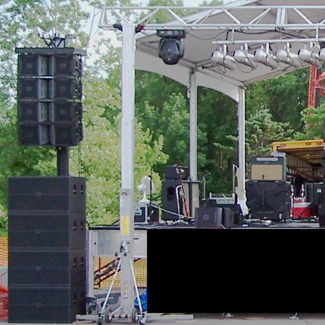 line array concert sound