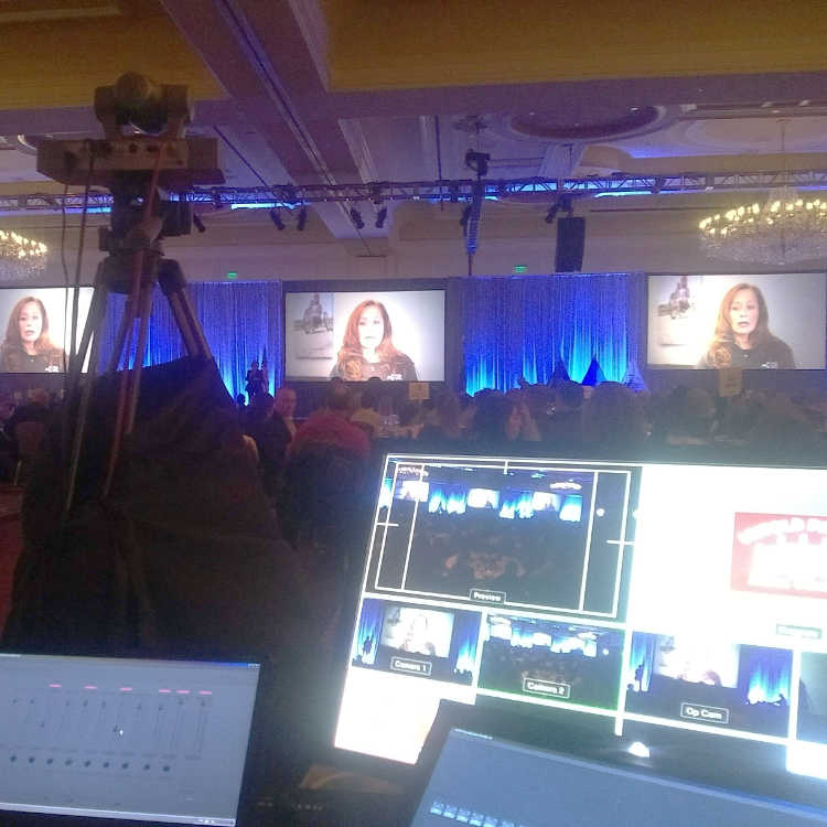 Streaming production and video recording of conferences