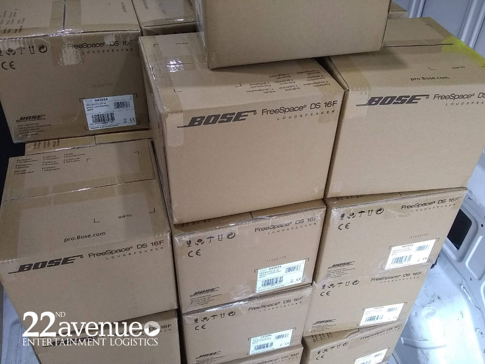 bose shipment of freespace speakers for commercial installation